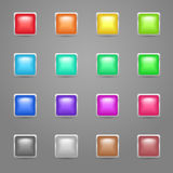 Square colored web buttons Stock Image