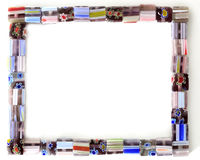 Square Colorful Bead Frame. Square Beads Arranged in a Frame Shape royalty free stock photography