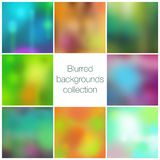 Square colorful blurred backgrounds set Royalty Free Stock Images