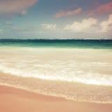 Square colorful sea landscape. Atlantic ocean coast Royalty Free Stock Photos