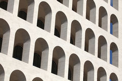 Square Colosseum in the EUR District in Rome, Lazio, Italy. Royalty Free Stock Image