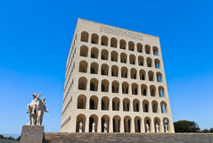 Square Colosseum in Rome Royalty Free Stock Photos