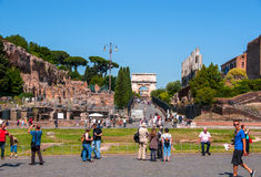 The square of the Colosseum in Rome Royalty Free Stock Photos