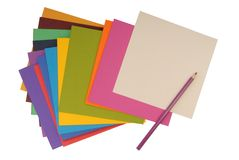 Square coloured  cardboard Royalty Free Stock Photos