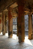 Square columns of the inner galleries Stock Photo