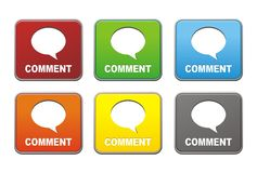 Square comment buttons Royalty Free Stock Photo