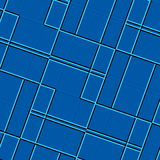 Square composition background. Blue image computer screen. Color paper. Mosaic tile wallpaper. Glass surface elements. Picture. Royalty Free Stock Photos