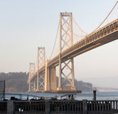 Square Composition Bay Bridge San Francisco California Transportation Stock Photos