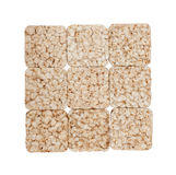Square composition of nine crunchy rye crispbreads Stock Photography
