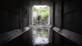 Square concrete drainage tunnel