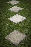 Square Concrete Walkway Plates Royalty Free Stock Images