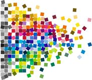 Square Confetti Mosaic Tiles. Abstract colorful design of random colored squares, confetti or mosaic tiles vector illustration