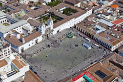Square and convent of San Francisco, Quito Royalty Free Stock Image