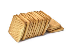 Square cookies Royalty Free Stock Photos