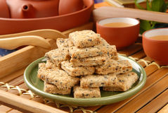 Square cookies Stock Photography