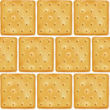 Square cookies crackers seamless pattern Stock Images