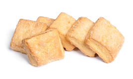 Square cookies isolated Royalty Free Stock Image