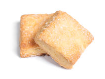 Square cookies isolated Royalty Free Stock Photos