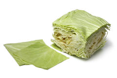 Square coolwrap cabbage leaves Stock Image