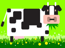 Square cow stock illustration