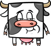 Square cow cartoon illustration Stock Photography