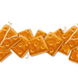 Square crackers Stock Photo