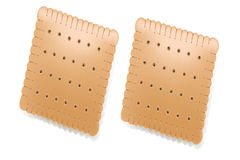 Square crackers Royalty Free Stock Image