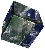 Square Cube, Planet Earth, Isolated Stock Photos