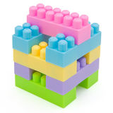 Square cube toy bricks. Square cube bulit by toy bricks Stock Image