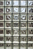 Square cubed glass. A long square cubed window with clear glass Stock Photo