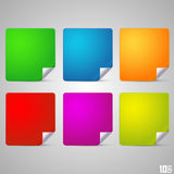 Square with a curved end Royalty Free Stock Photos