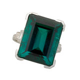 Square Cut Emerald Ring Stock Images