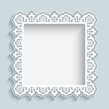 Square cutout paper lace frame Stock Photography