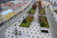 Square in Czech Republic town Prostejov. Square in Prostejov, that lies in Czech Republic Royalty Free Stock Images