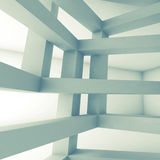Square 3d interior, abstract architecture background Stock Image