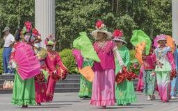 Square dance de China de nordeste Fotografía de archivo