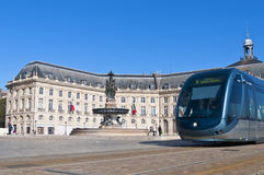 Square de la Bourse at Bordeaux, France Royalty Free Stock Image