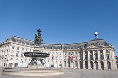 Square de la Bourse at Bordeaux, France Stock Photo