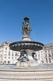 Square de la Bourse at Bordeaux, France Stock Photography