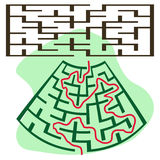 Square deformed maze Stock Image
