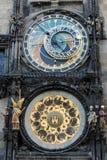square den tjeckiska gammala praha för den astronomiska klockan republiken townen Arkivbilder