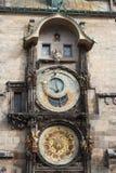 square den tjeckiska gammala praha för den astronomiska klockan republiken townen Arkivfoton