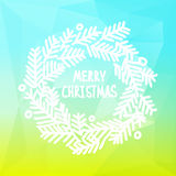 Square design with Christmas wreath on gradient Royalty Free Stock Image