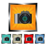 Square digital camera buttons Royalty Free Stock Image