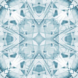 Square digital geometric 3d kaleidoscope pattern Royalty Free Stock Photography