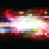 Square digital pixel background Stock Images