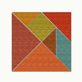 Square divided into figures, tangram.  Royalty Free Stock Image