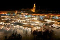 Square Djamaa El Fna in Marrakesh Royalty Free Stock Photo