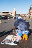 On the square Djema el Fnaa in Marrakesh Stock Images