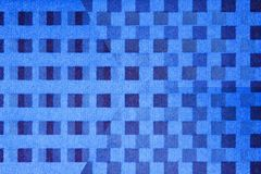 Square dot illusion. Black and blue square dots illusion Royalty Free Stock Photography